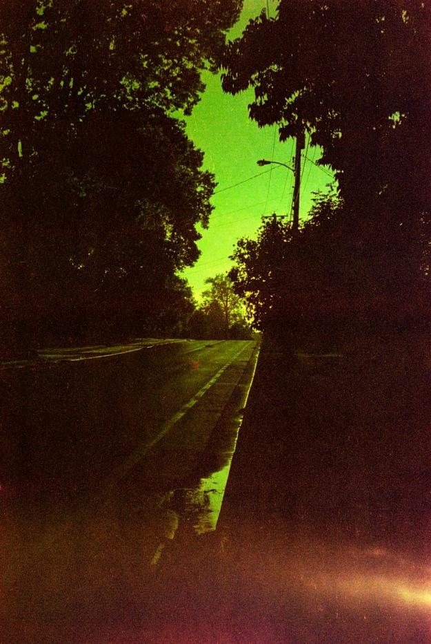 Sunset Street Green  (Fed 3b, Kodak Royal Gold 400 expired)