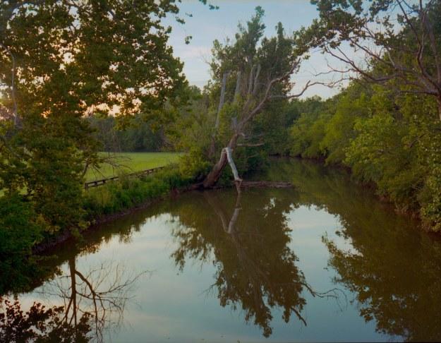 The South Elkhorn Creek in Fayette County, Kentucky near Lexington.  This is near Weisenberger Mill.