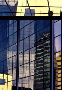 Wonky Windows Downtown Lexington, KY, Olympus OM-4, Kodak Portra 400