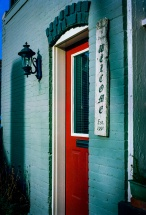 """Cabinet Shop"" Canon F-1, Kodak Ektar 100"