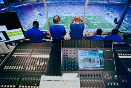 From the mix position doing live PA sound at Kroger Field, University of Kentucky. Canon F-1, Kodak Portra 400